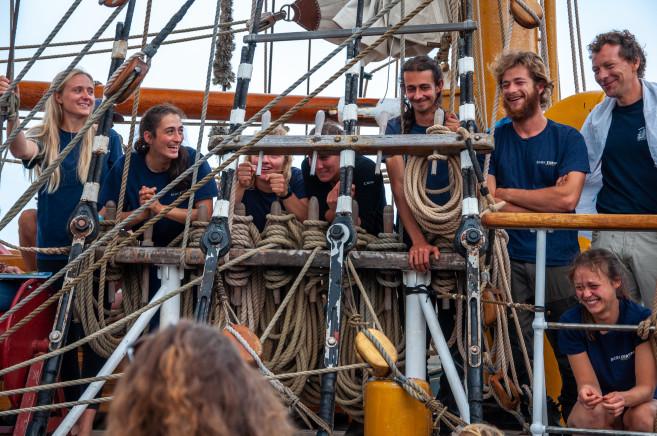 L'équipage du Bark Europa